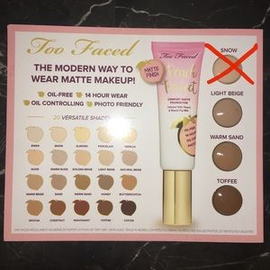 FREE SAMPLE WITH PURCHASE! Too Faced Foundation 🍑